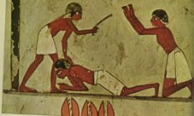 Egyptian beating a slave