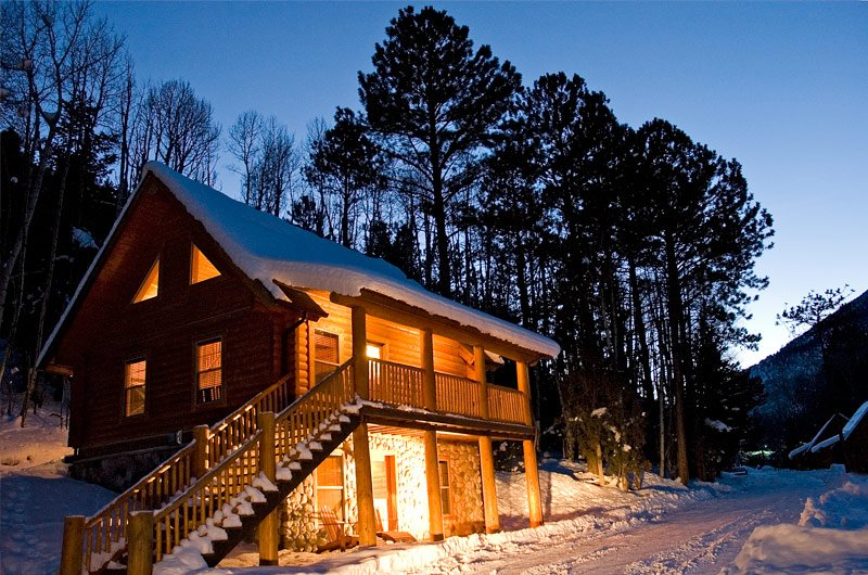 day night sleeper sofa mickey mouse flip open with sleeping bag cabins for rent at mount princeton hot springs resort