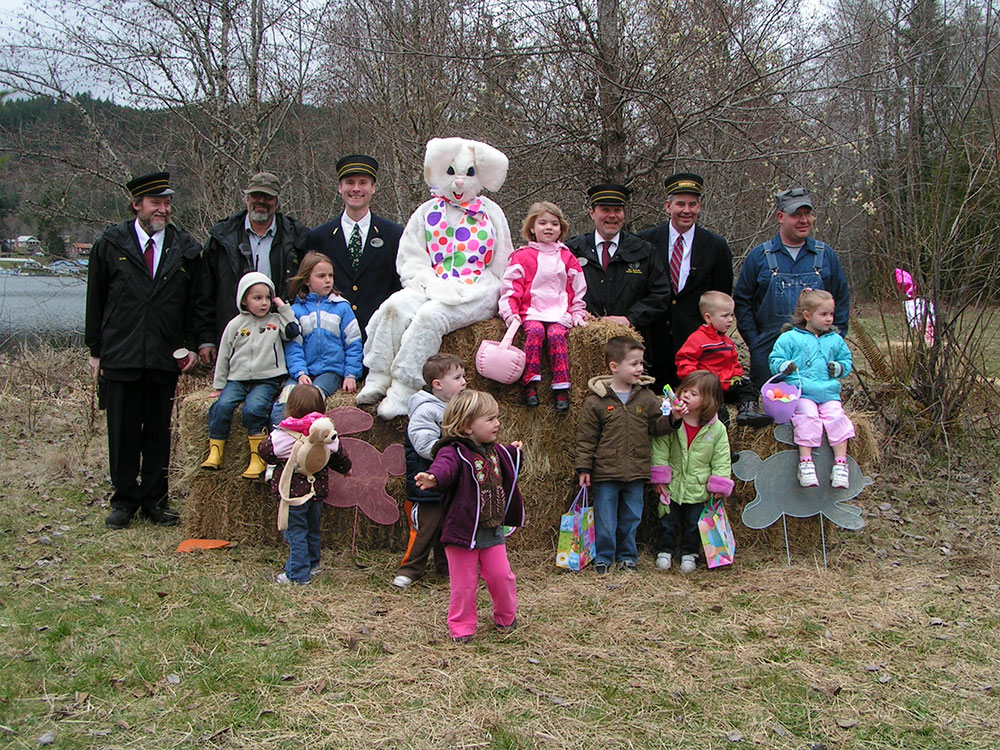 Group With Easter Bunny
