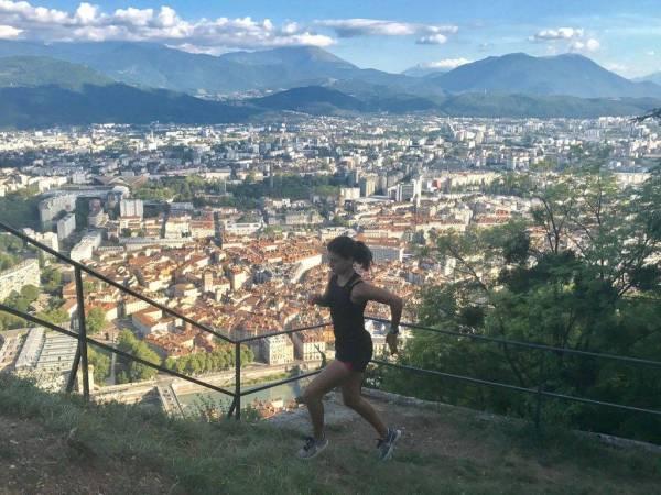 Subida a la bastilla Grenoble deportes en el medio natural