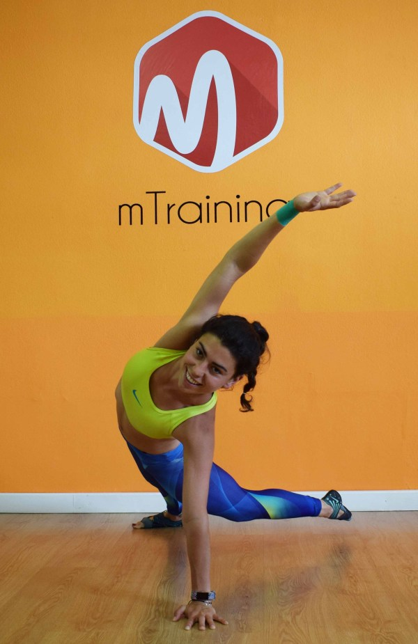plancha lateral tenis mtraining