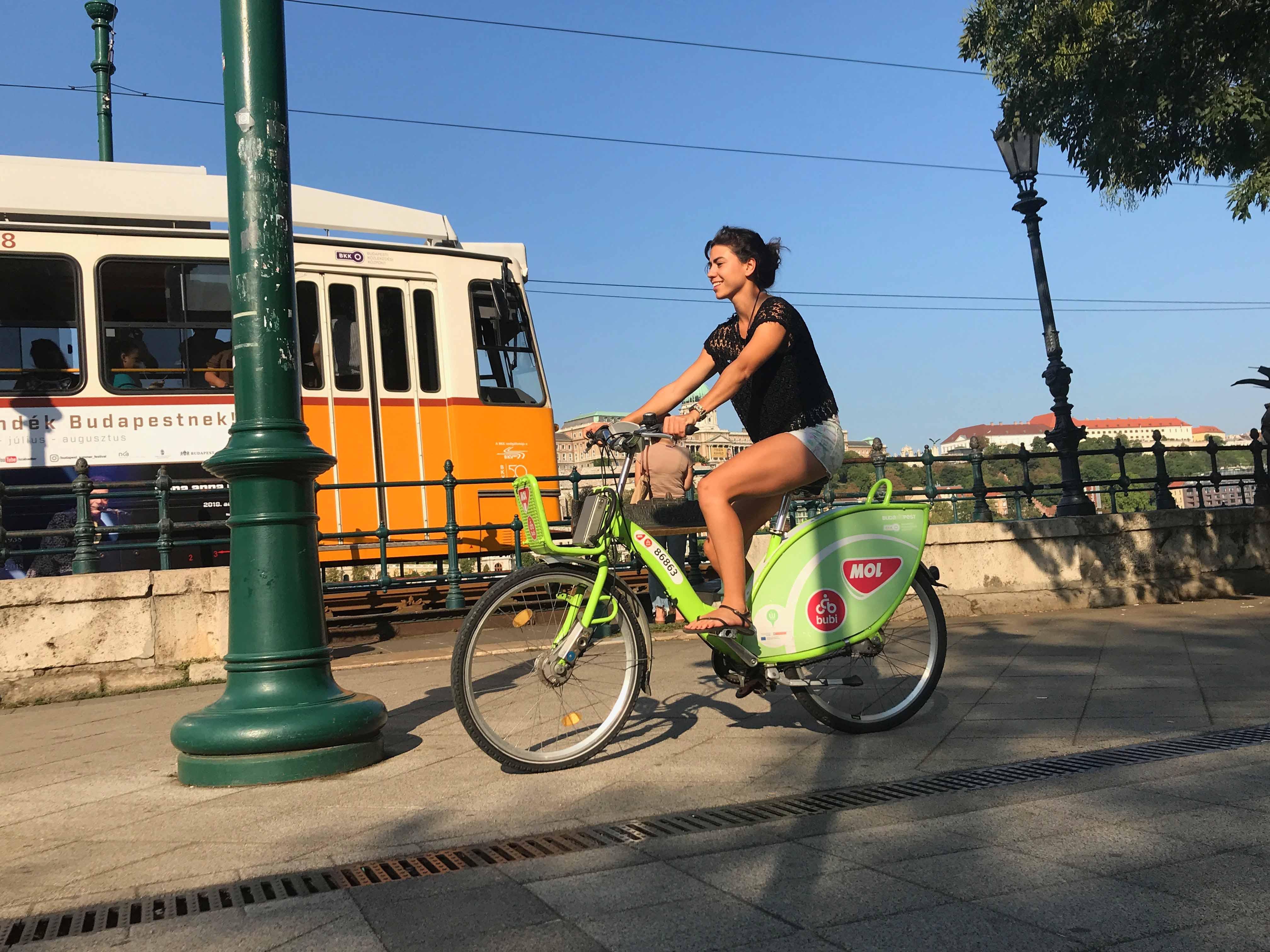 mol bubi bicicleta Budapest mtraining