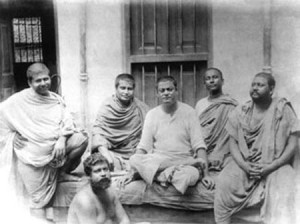 Vivekananda with monks