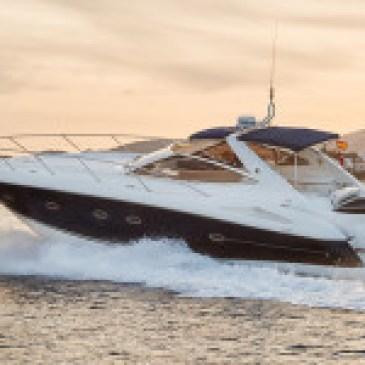 sunseeker in Ibiza. skipper with and RYA licence.