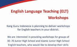 Juknis dan Formulir Pendaftaran Workshop Pembelajaran Guru Bahasa Inggris SMP/MTs