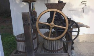 old donated cider press