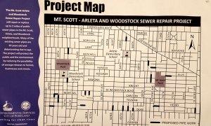 Mt. Scott - Arleta Sewer Repair Map