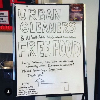 Urban Gleaners Sign Board