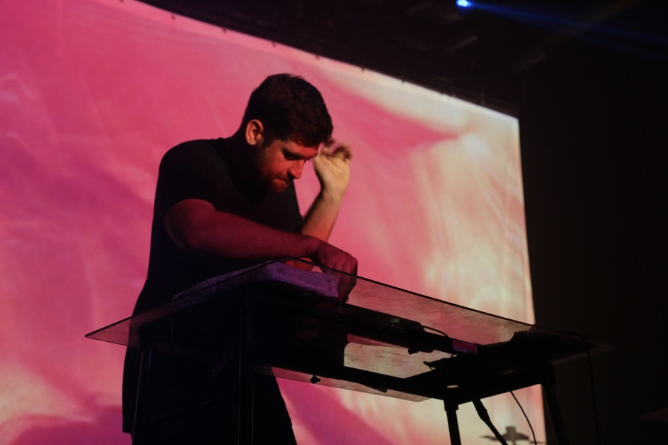 Harrison Mills of ODESZA performs during a sold out concert at Marathon Music Works in Nashville, Tenn. on Friday, March 15, 2015. The duo is also set to perform at the 2015 Bonnaroo Music and Arts Festival in Manchester, Tenn. this June. (MTSU Sidelines/Olivia Ladd)