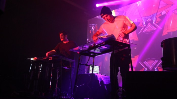 Harrison Mills, left, and Clayton Knight, right, of ODESZA perform during a sold out concert at Marathon Music Works in Nashville, Tenn. on Friday, March 15, 2015. The duo is also set to perform at the 2015 Bonnaroo Music and Arts Festival in Manchester, Tenn. this June. (MTSU Sidelines/Olivia Ladd)
