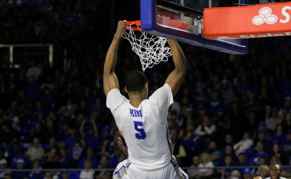 separation shoes 4910c 2d9aa Senior Nick King slams a dunk against the Western Kentucky Hilltoppers on  Mar. 1, 2018, in Murfreesboro, Tenn. (David Chamberlain   MTSU Sidelines)