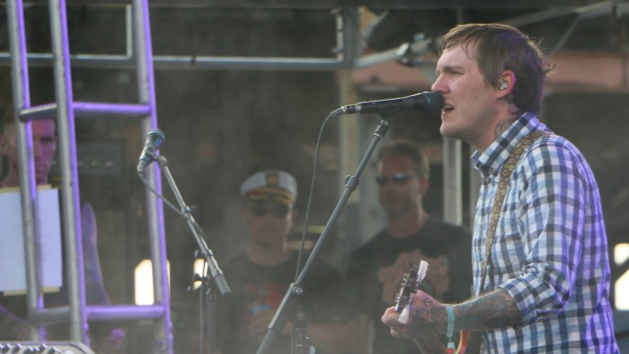 Brian Fallon of the Gaslight Anthem performs at the Forecastle Festival in Louisville, Ky., on Friday, July 17, 2015. (MTSU Sidelines / John Connor Coulston)