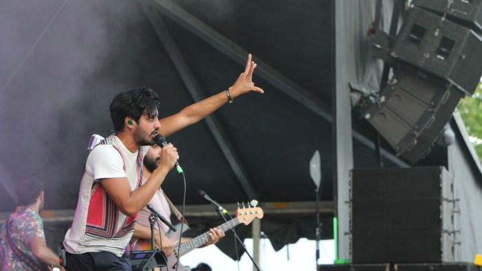 Sameer Gadhia of Young the Giant performs at the Sloss Music & Arts Festival in Birmingham, Ala., on Saturday, July 18, 2015. (MTSU Sidelines / John Connor Coulston)