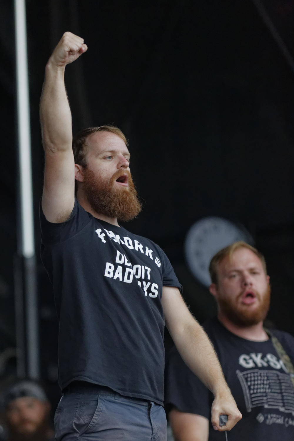 "Dan ""Soupy"" Campbell of The Wonder Years performs during the Nashville, Tennessee stop of the Vans Warped Tour on July, 1, 2015. (MTSU Sidelines / Gregory French)"