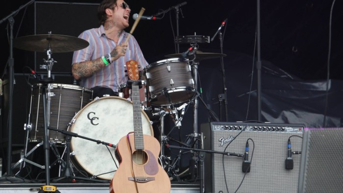 Jordan Hardee of Matrimony performs at the Forecastle Festival in Louisville, Kentucky on Sunday, July 20, 2015. (MTSU Sidelines / John Connor Coulston)