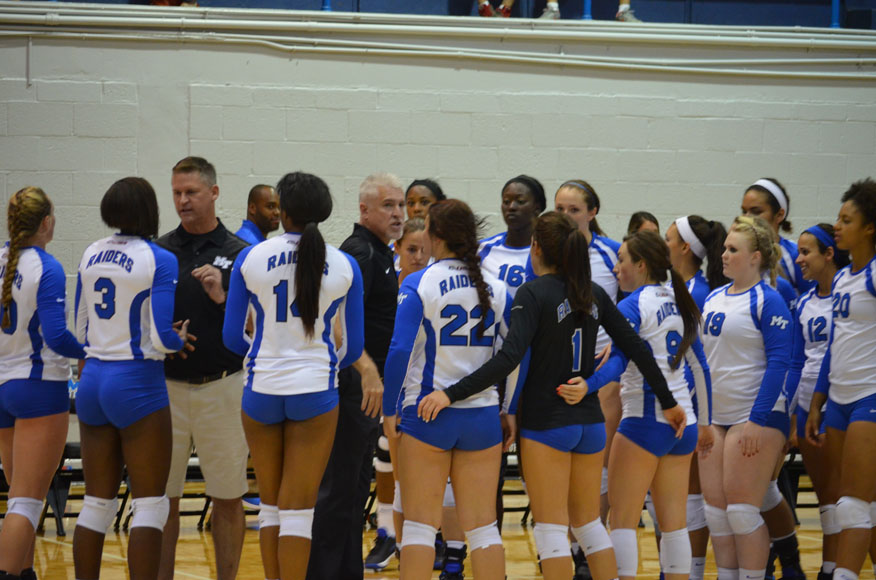 Blue Raider Volleyball Takes Hit in Season Opener