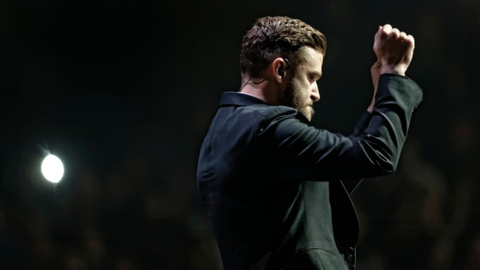 "Justin Timberlake performs at Bridgestone Arena in Nashville, Tenn. on Friday, Dec. 19, 2014. The show marked the second time he visited Nashville during his ""20/20 Experience World Tour."" (MTSU Sidelines/Greg French)"