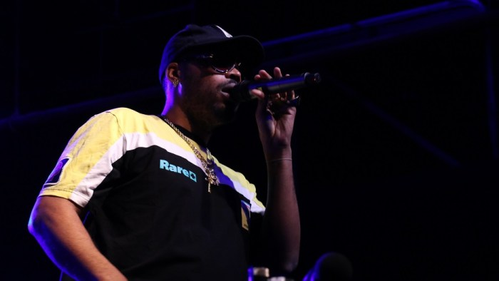 Rapper Kool John performs at Marathon Music Works in Nashville, Tenn. on Saturday, January 24, 2015. He was one of three opening acts for hip-hop artist G-Eazy. (John Connor Coulston / MTSU Sidelines)