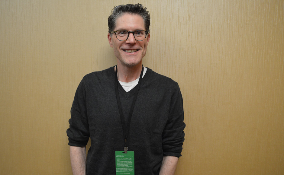 Bob Bergen poses for a photo before heading to his next panel. (MTSU Sidelines/Mackenzie Meins)
