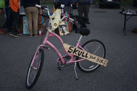 Skull bike displayd at Boro Fondo on Saturday. (Sidelines / Wesley McIntyre)