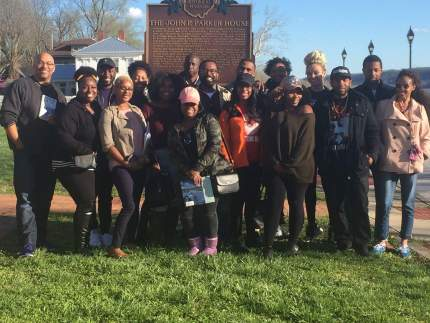 Students from MTSU's African-American Studies Department traveled to Ohio to visit national landmarks in African-American history. (Photo courtesy of Dr. Michelle Stevens)