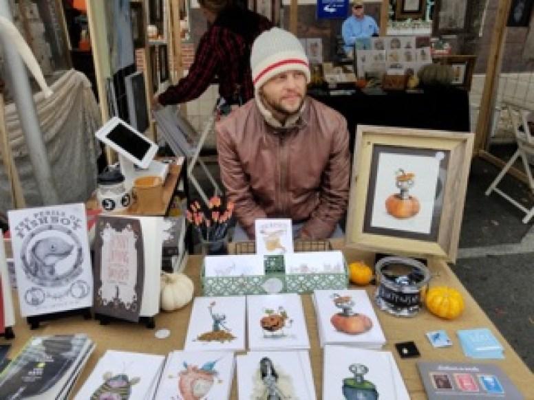 Cory Basil serves as a vendor at PumpkinFest in Franklin, Tenn. on Oct. 28, 2017. (Gerardo Palacios / MTSU Sidelines)