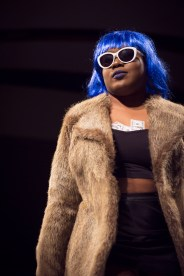 Joya Carpten makes a bold presence at the Color the Runway Fashion Show in Murfreesboro, Tenn. on Thursday, Feb. 8, 2018. (BingNan Li / MTSU Sidelines)