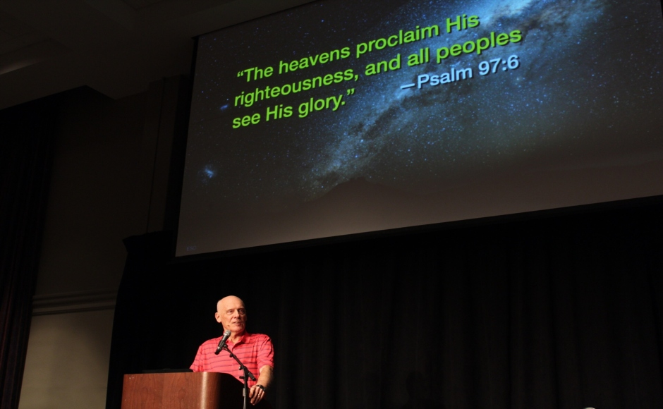 Astronomer Hugh Ross speaks on relationship between faith, science
