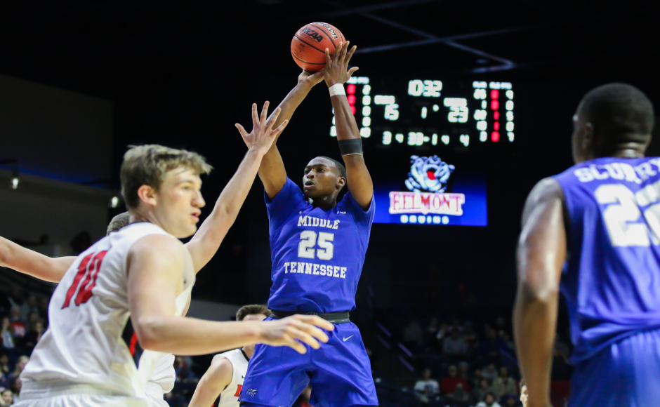 Men's Basketball: Blue Raiders show growing pains in 92-73 loss to Belmont