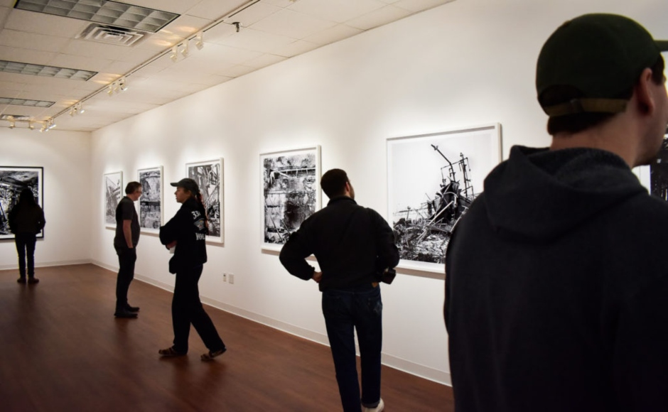 Photos: Reception, lecture for MTSU professor's 'Dialogue on Fire' held in Baldwin Photographic Gallery