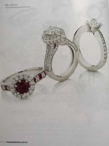 My ring in a bridal magazine