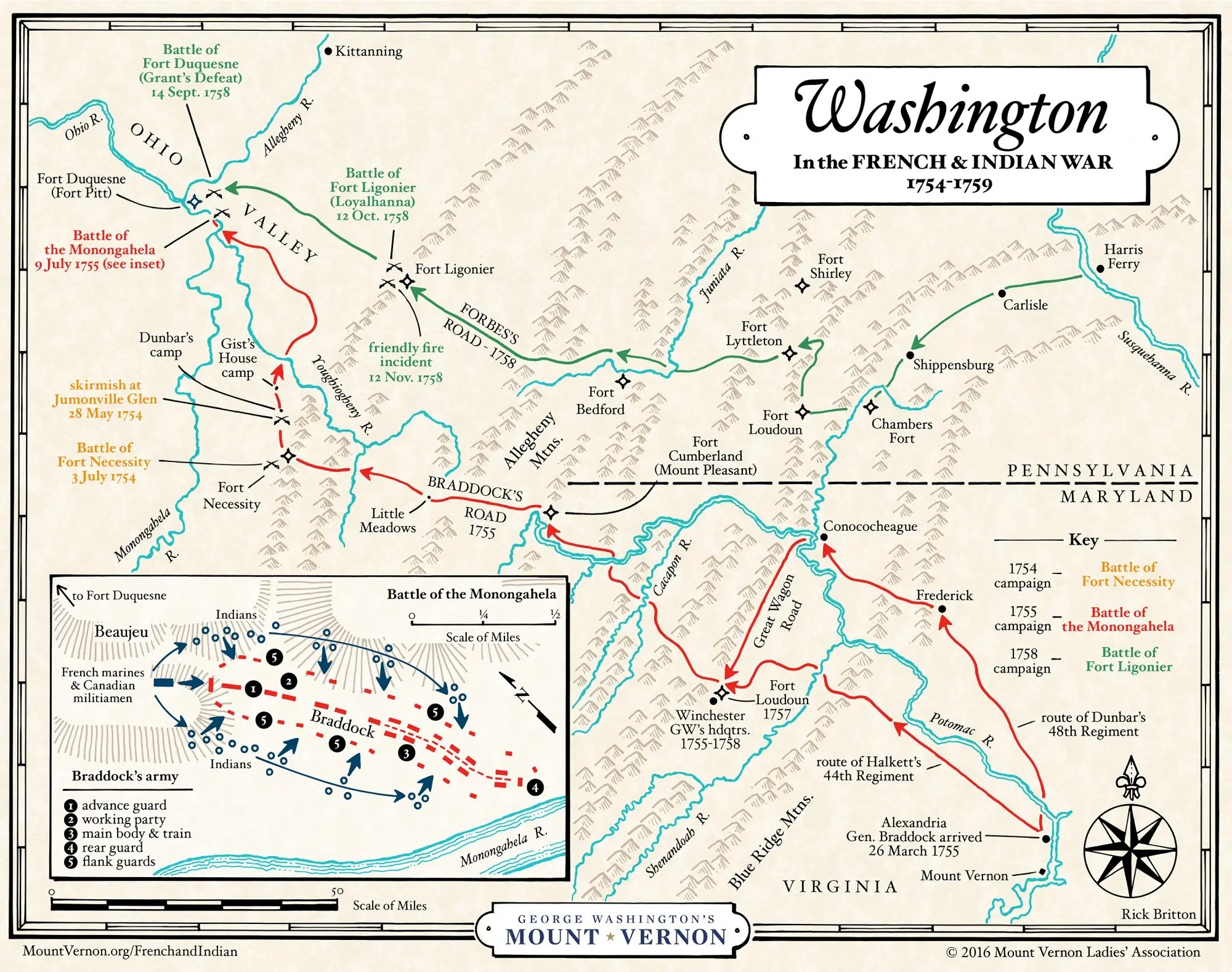 Washington In The French Amp Indian War George Washington