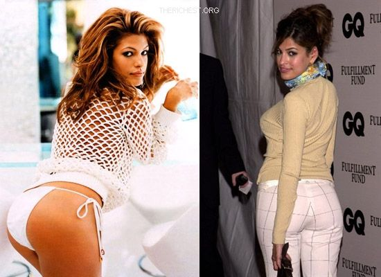 Biggest Celebrity Bootilicious Butts In Hollywood - Eva Mendes, popular actress and support of PETA whom she has posed naked will bring a crowd anytime she is around