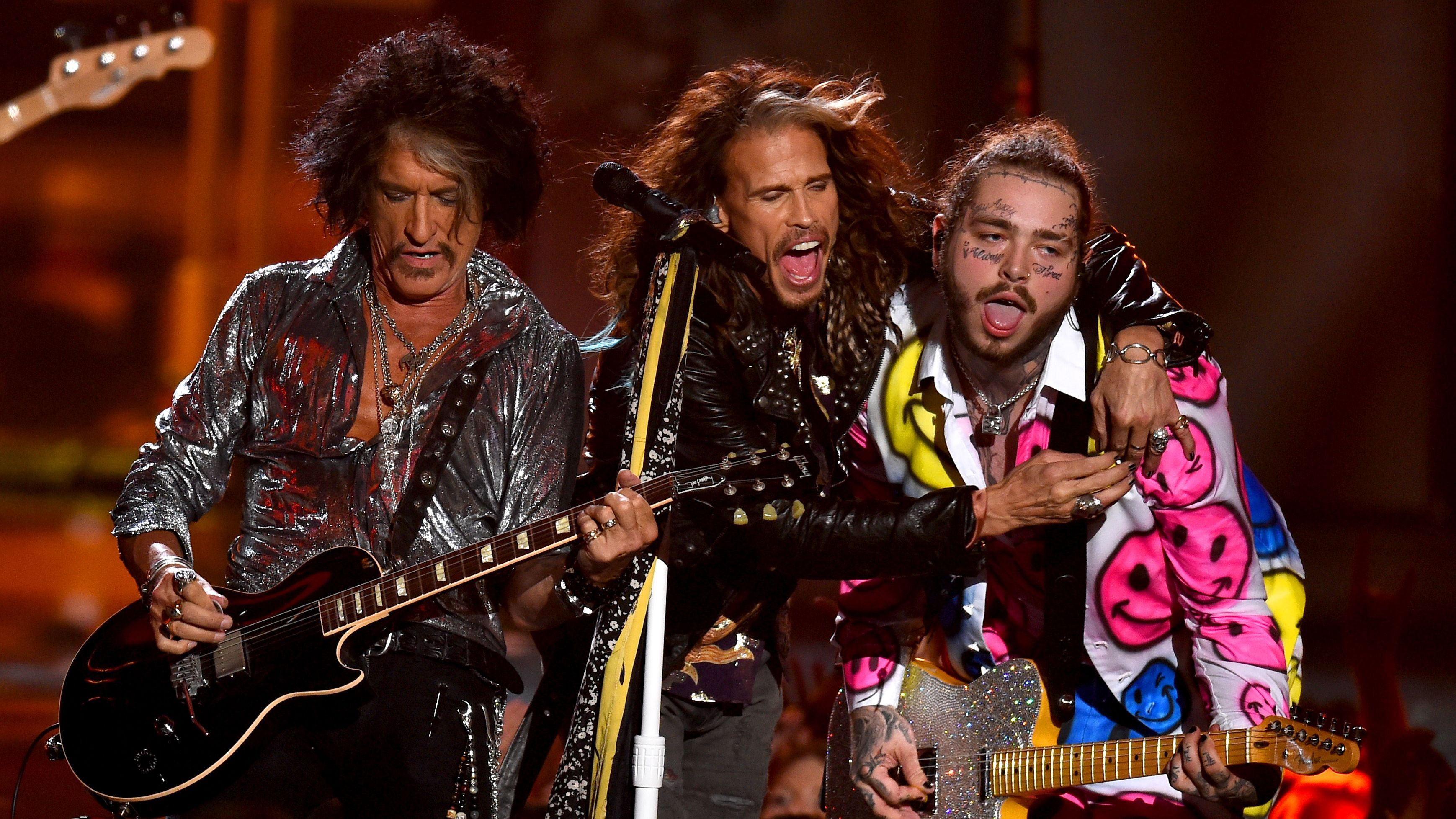 Post Malone And 21 Savage Dream On With Aerosmith Mtv