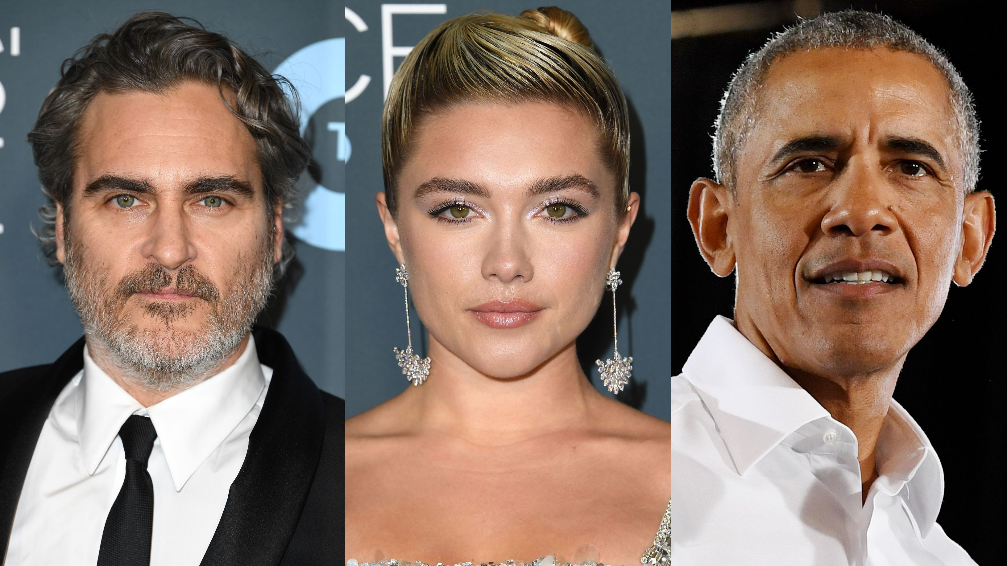 Joaquin Phoenix Florence Pugh And Barack Obama React To
