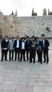At the Kotel With The Menahel Rabbi Friedman
