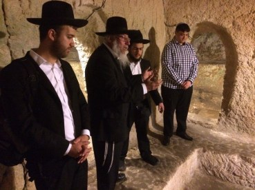 At Kivrei Tzadikim with Rabbi Yagen