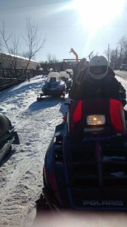 Snowmobiling in Tannersvile at a Shabbathon