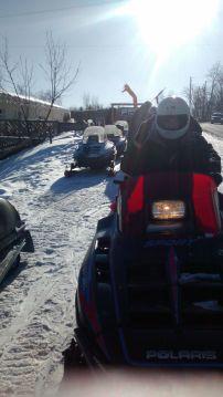 Snowmobiling in Tannersvile at a Shabbathon