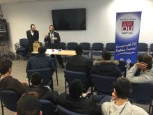 Lecture about kosher fish at OU headquarters