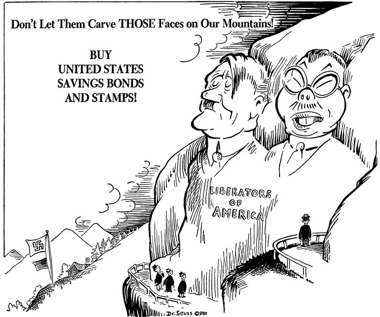 World War II Political Cartoons – by Dr. Seuss