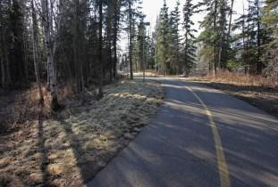 The Ship Creek Trail runs west from Tyson Elementary School.