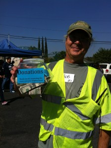 Donations collected at Earthquake Drill