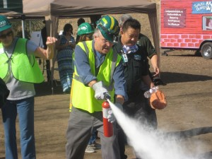 Fire Extinguisher Demonstration - Public Safety Resource Fair 10/15/16