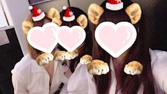 神田キャバクラ【ムーミン(mu-minn)】東京JK制服ラウンジ のん 制服3人で写真