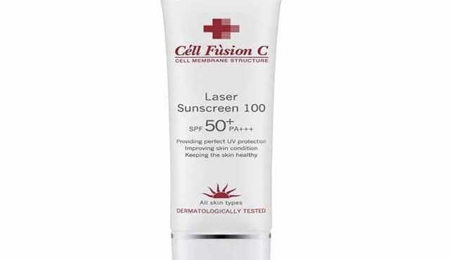 kem chong nang cao cap laser sunscreen 100 cell fusion c