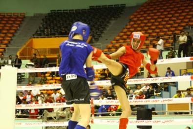 A hard kick