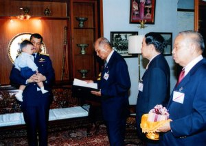 HRH the Prince of Thailand with the Honorable General Kullavanijaya