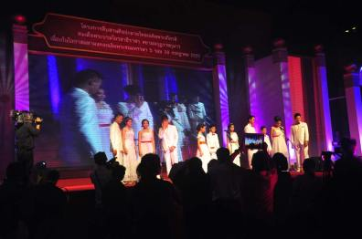 Singing competition winners perform