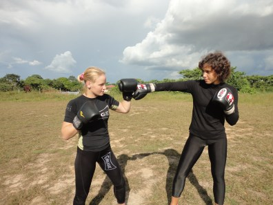 Sisters sparring